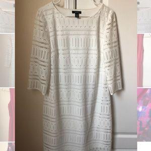 Alfani white knit dress size 12